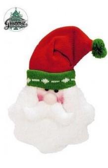 Cabeza Colgante Papa Noel, 25 cm.
