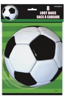 Set 6 Bolsas Fútbol, 23 x 17 cm.