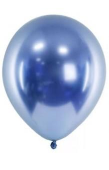 Globos Azules Cromados 30 cm., 6 uds.
