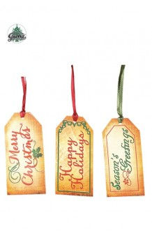 Set 9 Etiquetas Navidad, 10 x 5 cm.