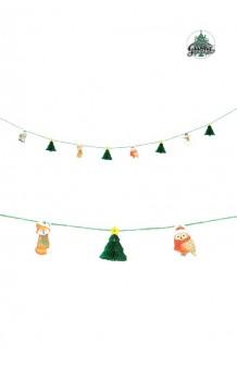 Guirnalda Navidad Abetos + Personajes, 365 cm.