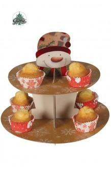 Stand Mesa/Cupcakes Muñeco Navidad