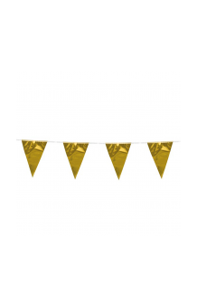 Banderines Dorados Plástico, 10 m.