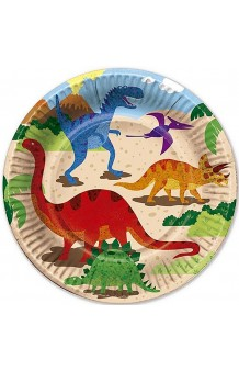 Platos Dinosaurios, 6 uds. (23 cm.)