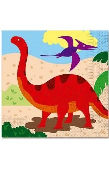 Servilletas Dinosaurios, 12 uds. (33 x 33 cm.)