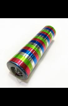 Serpentina Metalizada Colores, 18 Rollos (4 m.)