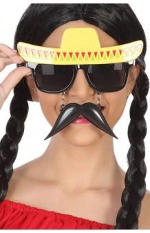 Gafas + Bigote Mejicano