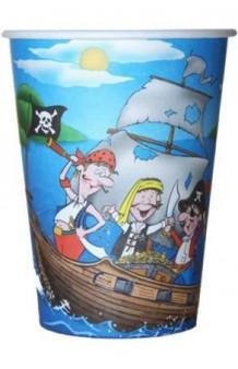 Vasos Piratas, 6 uds.