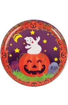 Plato Halloween Plástico, 27 cm.