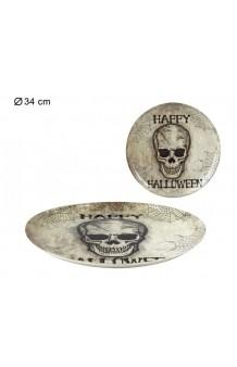 Plato Calavera Happy Halloween, 31 cm.