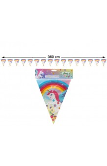 Banderines Unicornio, 360 cm.