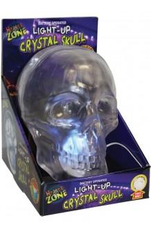 Calavera Luminosa Efecto Cristal, 16 cm.