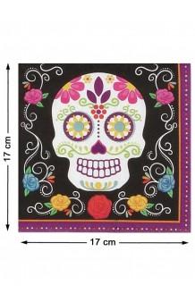 """Servilletas """"Día de los Muertos"""", 17 x 17 cm."""