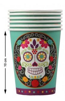 """Vasos """"Día de los Muertos"""", 6 uds."""