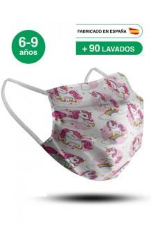 Mascarilla Unicornios Infantil (UNE 0065:2020)