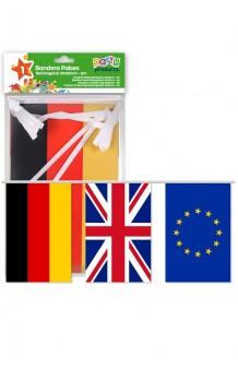 Tira Banderas Países Europeos, 5 m.