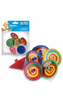 Bolsa 6 Peonzas Multicolores