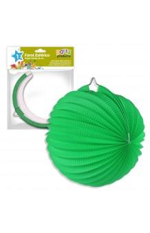 Farol Verde Redondo, 25 cm.