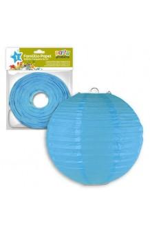 Farol Luminoso Azul Celeste, 25 cm.