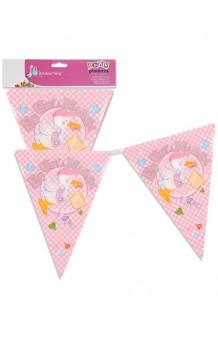 """Banderines Rosas """"Es una Niña"""", 360 cm."""
