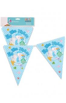 """Banderines Azules """"Es un Niño"""", 360 cm."""