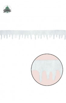 Tira Decoración Nieve, 245 cm.