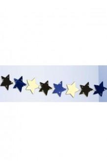 Guirnalda Estrellas Metalizadas, 277 cm.