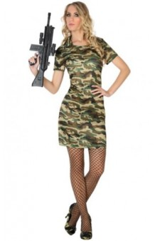 Disfraz Militar Chica Basic