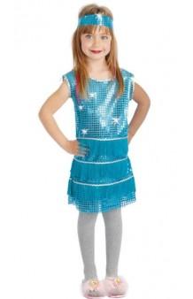 Disfraz Charlestón Azul