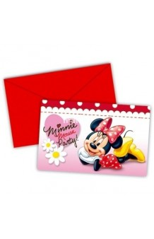 Invitaciones Minnie, 6 uds.