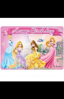 "Vela Princesas Disney ""Happy Birthday"", 9 x 8 cm."