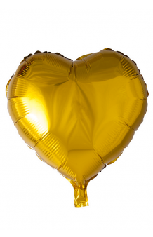 Globo Corazón Dorado, 46 cm.
