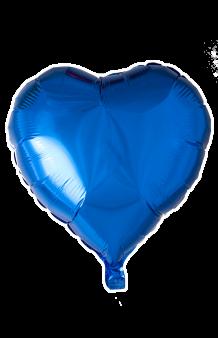 Globo Corazón Azul, 46 cm.