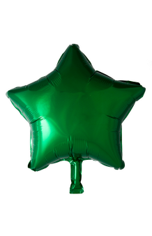 Globo Estrella Verde, 46 cm.