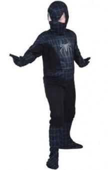 Disfraz Spider Héroe Negro 10-12 años