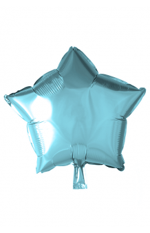 Globo Estrella Azul Pastel, 46 cm.