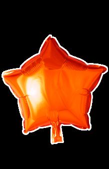 Globo Estrella Naranja, 46 cm.