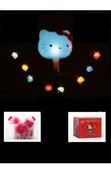 Guirnalda Luminosa Hello Kitty 10 lámparas LED (con pilas), 200 cm.