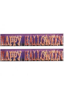 "Cartel ""Happy Halloween"" Púrpura, 153 cm."