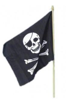 Bandera Pirata, 45 x 30 cm.