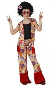 Disfraz Hippie Floral 5-6 años