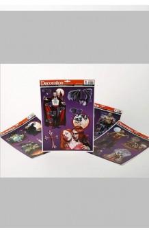 Set Stickers Adhesivos Halloween (Modelos Surtidos), 39 x 30 cm.