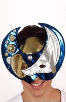 Máscara Galáctica Azul PVC