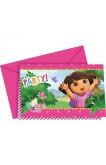 Invitaciones Dora la Exploradora, 6 uds.
