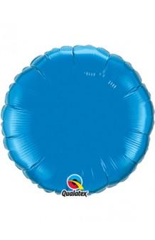 Globo Círculo Azul Zafiro, 46 cm.
