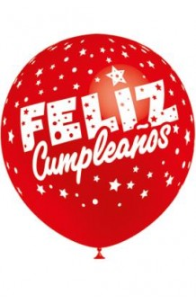 """Globos """"Feliz Cumpleaños"""" Colores Surtidos 100 cm. Pro-Quality, 8 uds."""