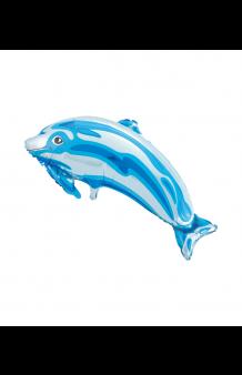 Globo Delfín Azul