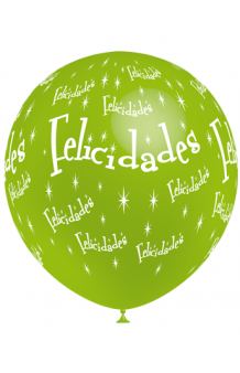 "Globos ""Felicidades"" Colores Surtidos 100 cm. Pro-Quality, 8 uds."