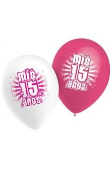 "Globos ""Mis 15 años"" 95 cm. Pro-Quality, 10 uds."