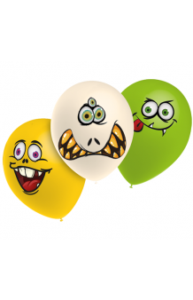 Globos Monsters + Sticks Adhesivos Pro-Quality 80 cm., 10 uds.